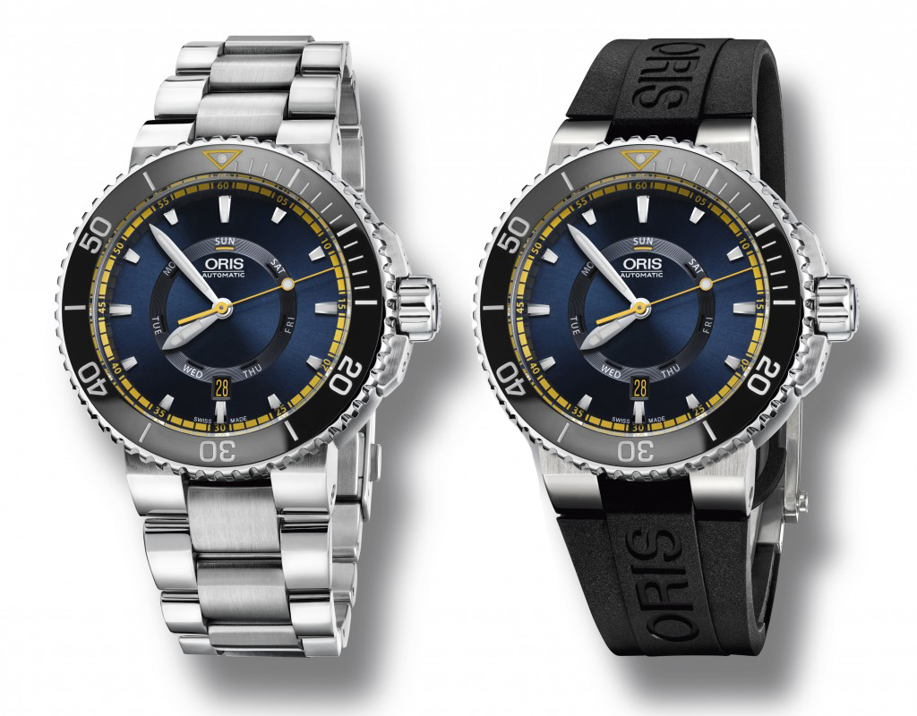 Oris Great Barrier Reef Limited Edition II silver rubber strap