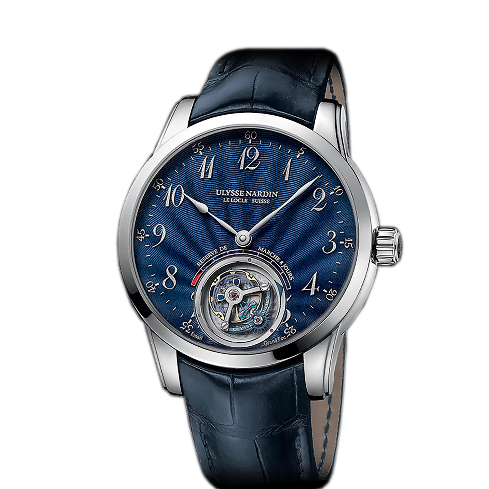 Ulysse Nardin Anchor Tourbillon Blue Enamel Your Watch Hub