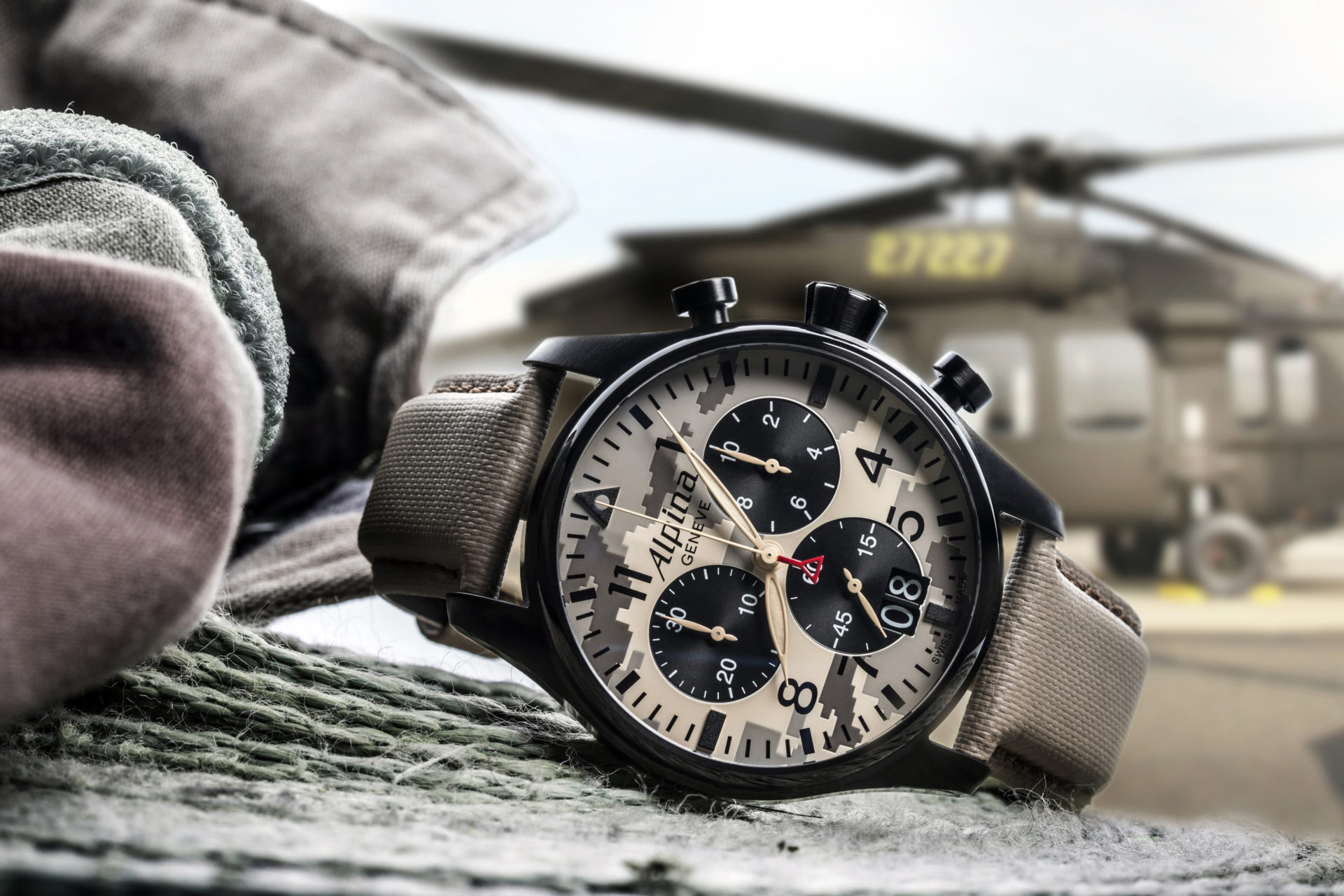 Alpina Startimer Camouflage Pilot Big Date Chronograph