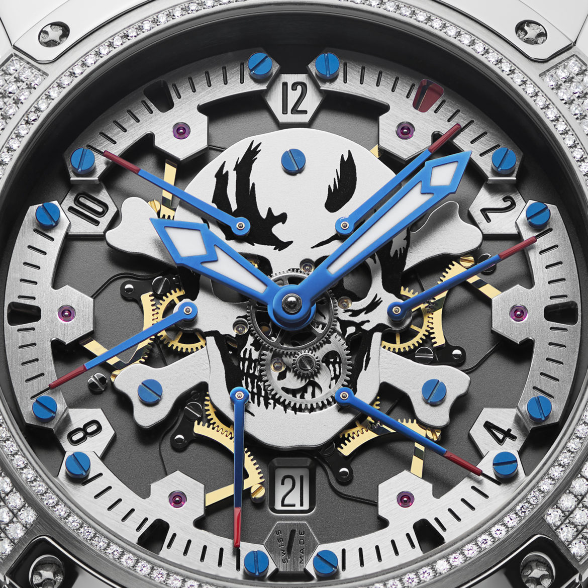 Pierre DeRoche TNT Royal Retro Skull