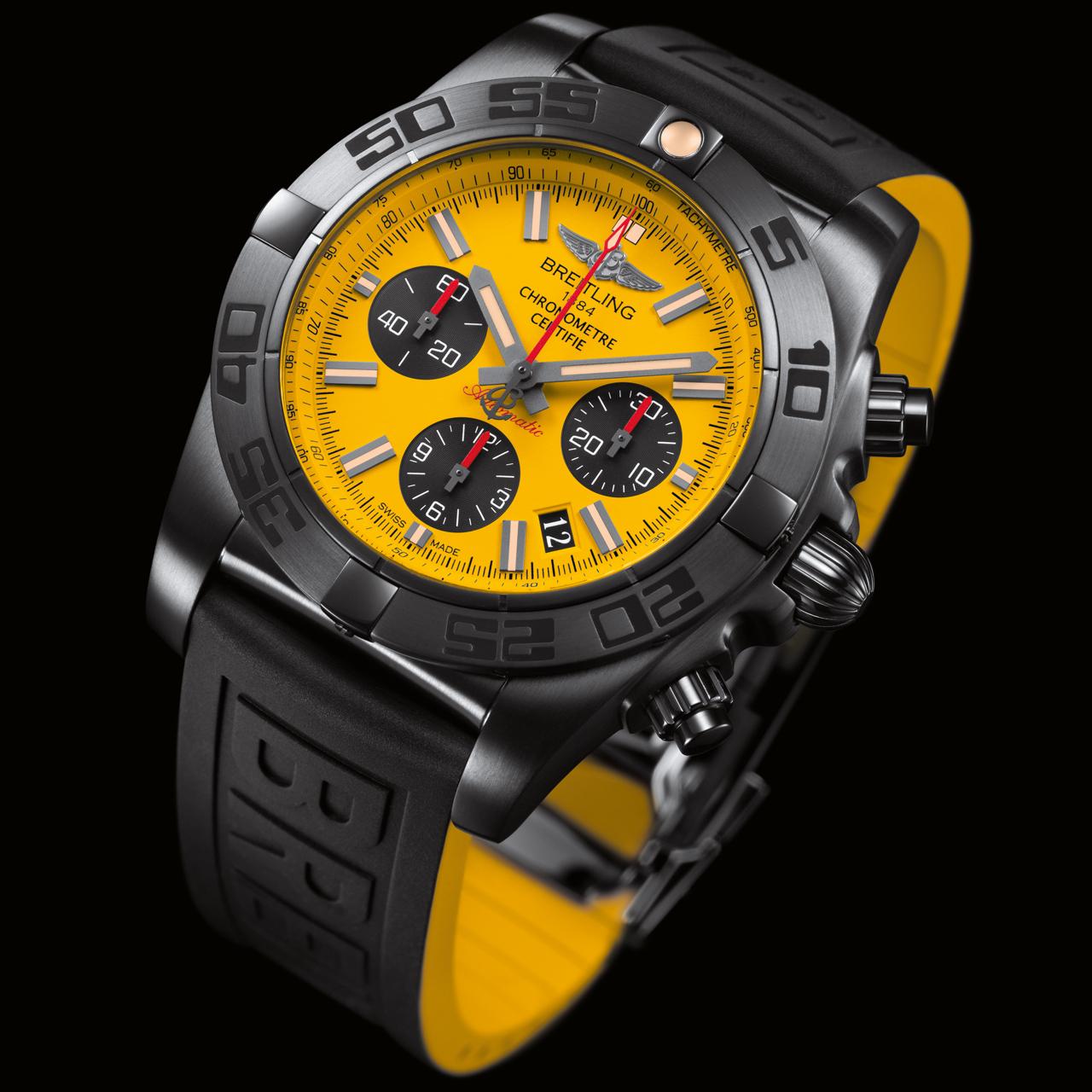 breitling chronomat 44 blacksteel special edition your watch hub. Black Bedroom Furniture Sets. Home Design Ideas