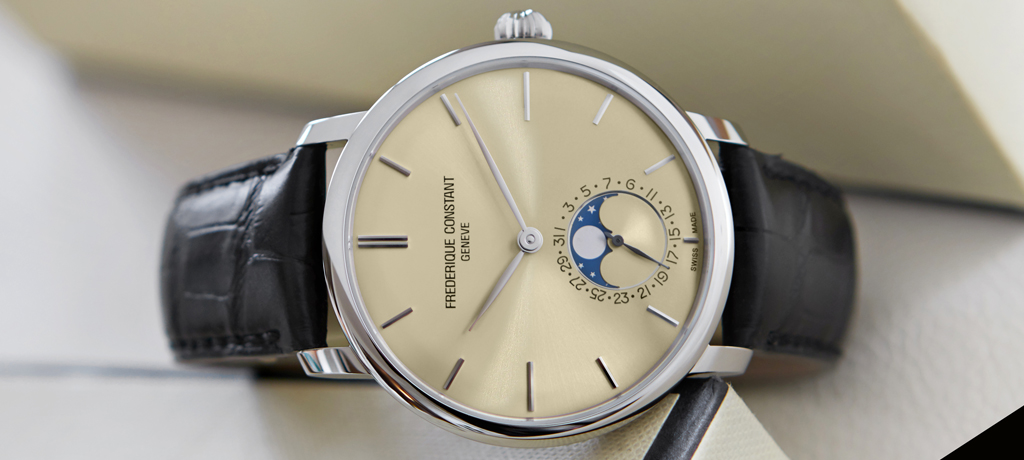 Frederique Constant Manufacture Slimline Moonphase Champagne side