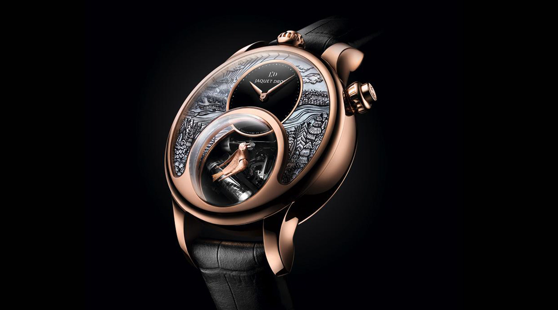 Jaquet Droz Charming Bird rose gold