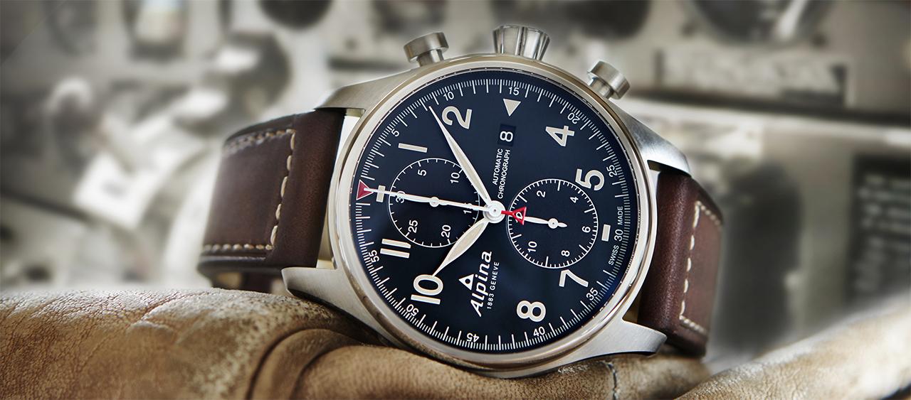 Alpina Startimer Pilot Automatic Chronograph side