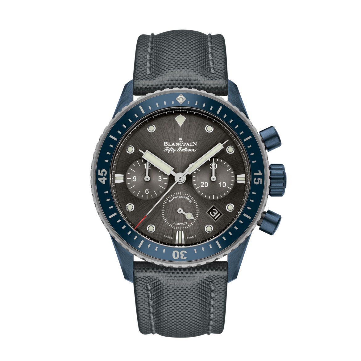 Blancpain Fifty Fathoms Bathyscaphe Flyback Chronograph Blancpain Ocean Commitment II