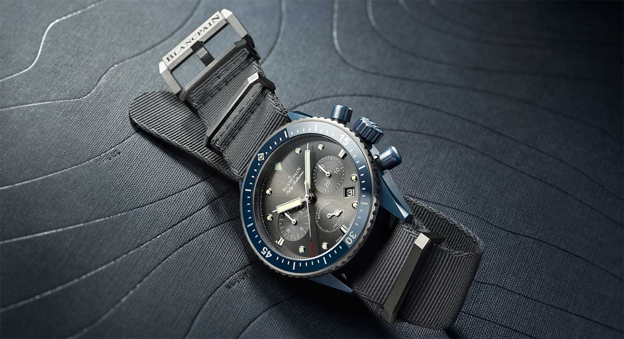 Blancpain Fifty Fathoms Bathyscaphe Flyback Chronograph Blancpain Ocean Commitment II side
