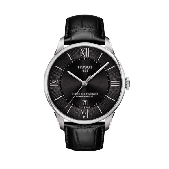 Tissot T-Classic Chemin des Tourelles Powermatic 80 steel black dial