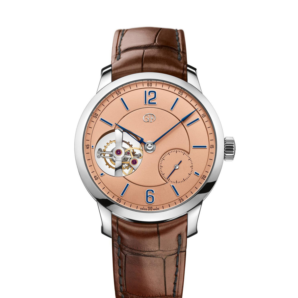 Greubel Forsey Tourbillon 24 Seconds Vision Platinum with salmon dial