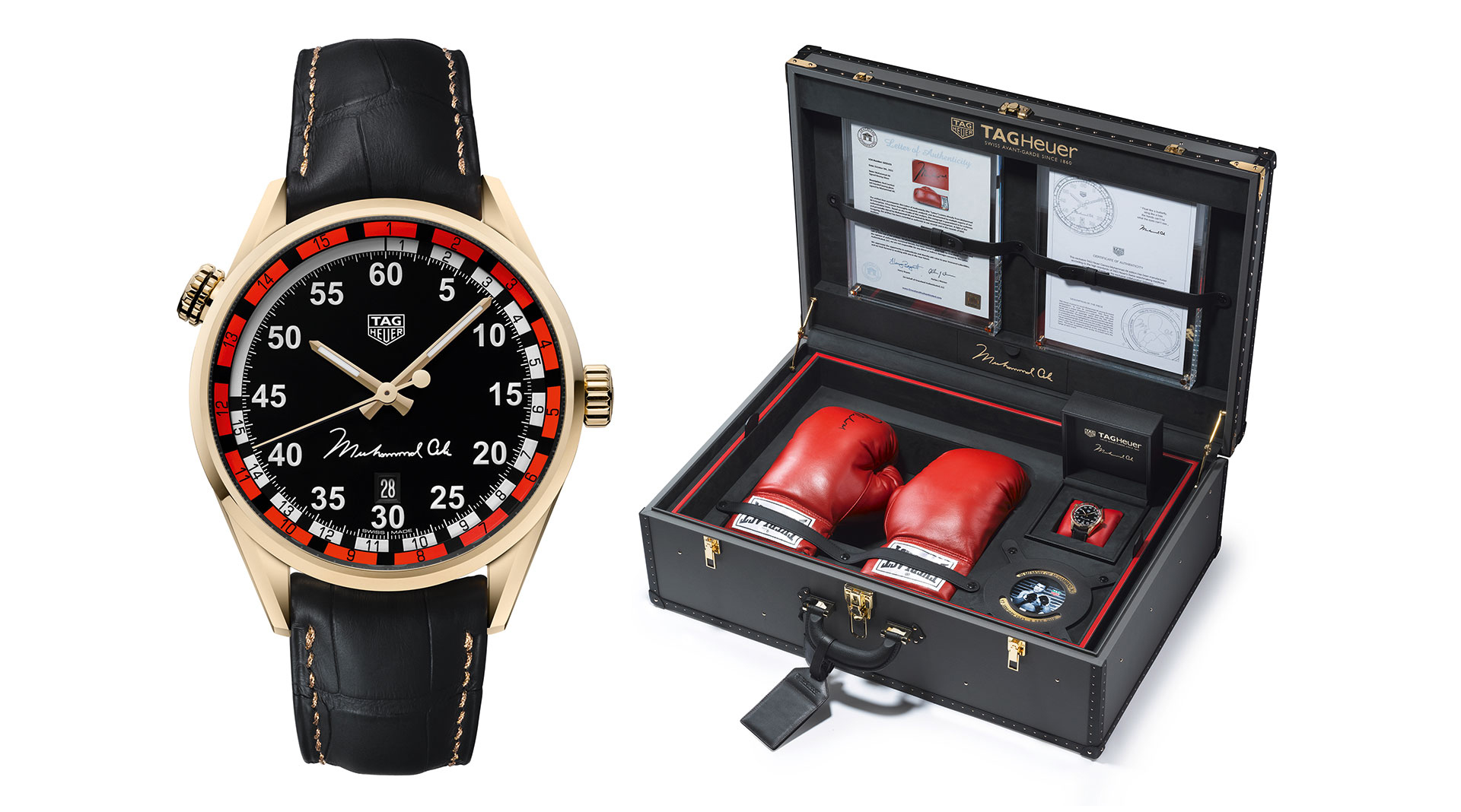 TAG Heuer Carrera Ring Master Calibre 5 Muhammad Ali Gold Edition