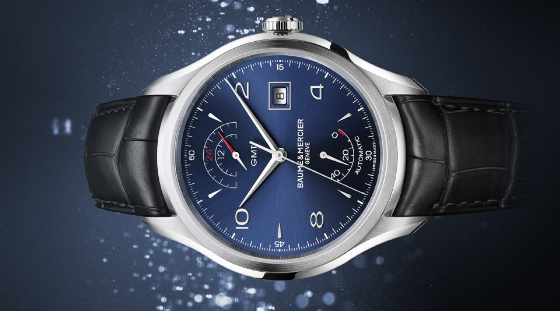 Baume & Mercier Clifton GMT Power Reserve side
