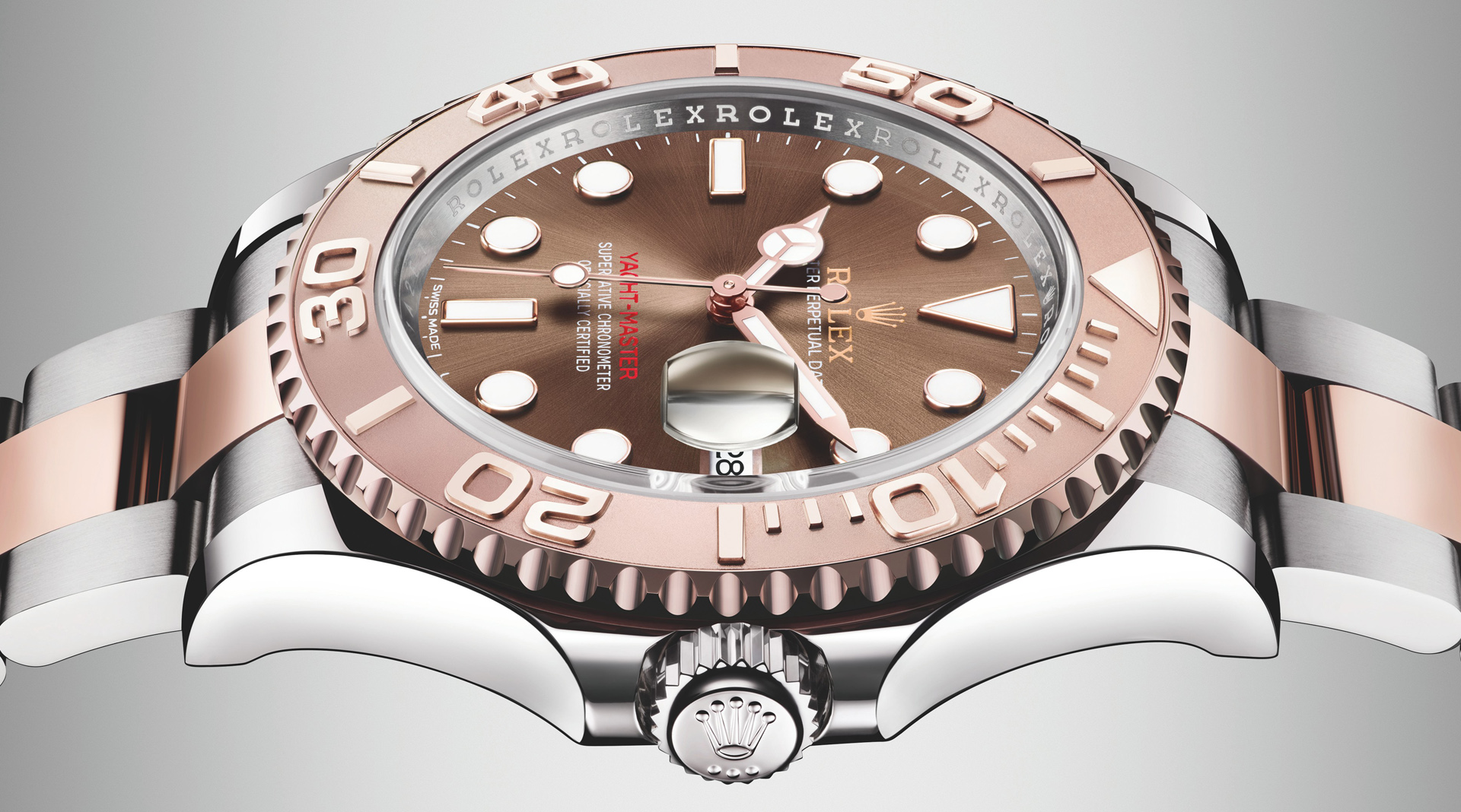 Rolex Yacht-Master 40 Everose Rolesor 116621 side