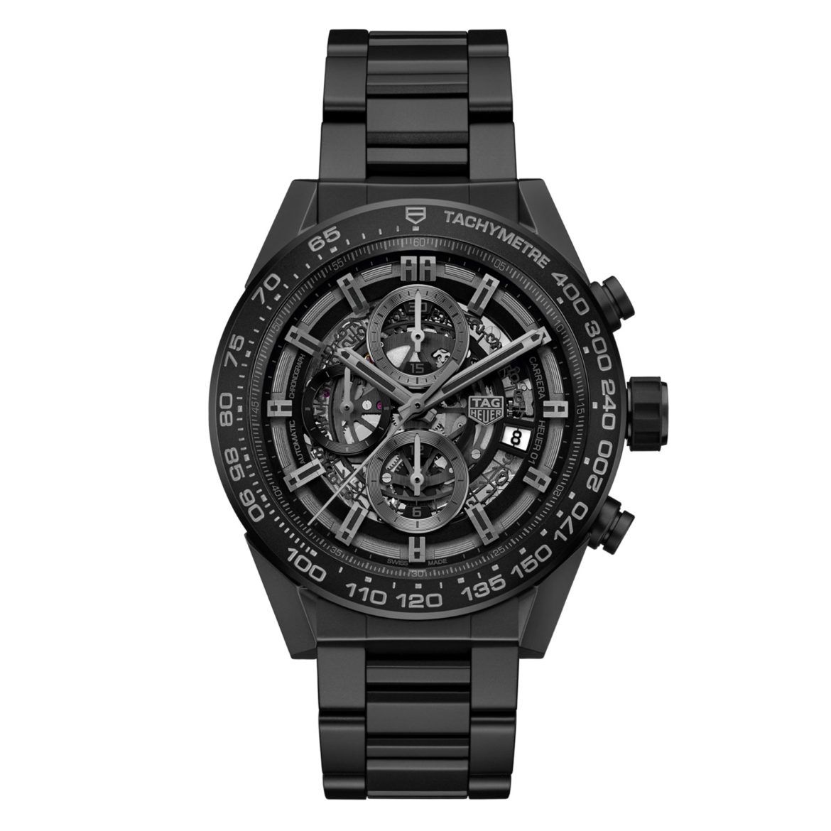 TAG Heuer Carrera Heuer 01 Full Black Matte Ceramic