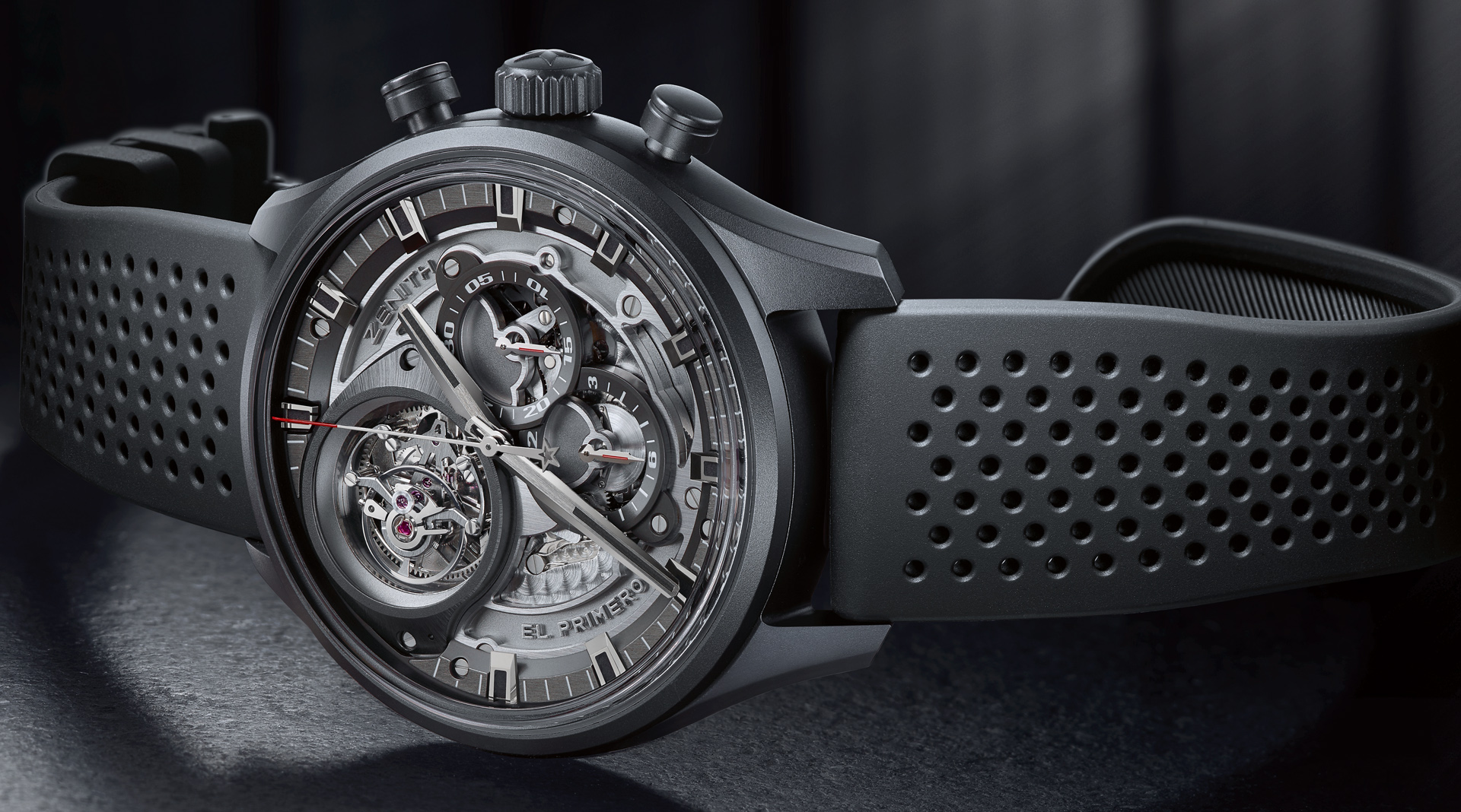 Zenith El Primero Tourbillon Skeleton Intense Black side