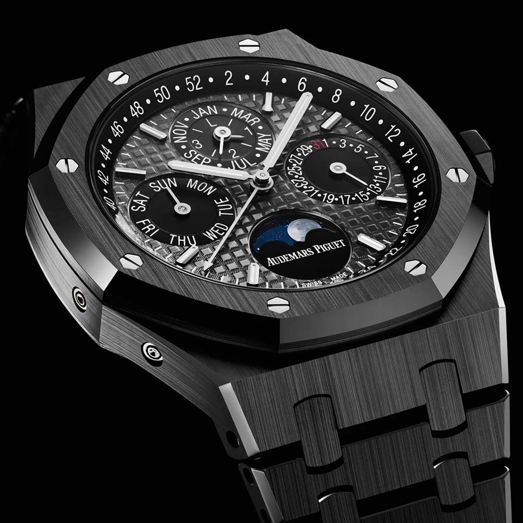 Black Ceramic Audemars Piguet Royal Oak Perpetual Calendar replica