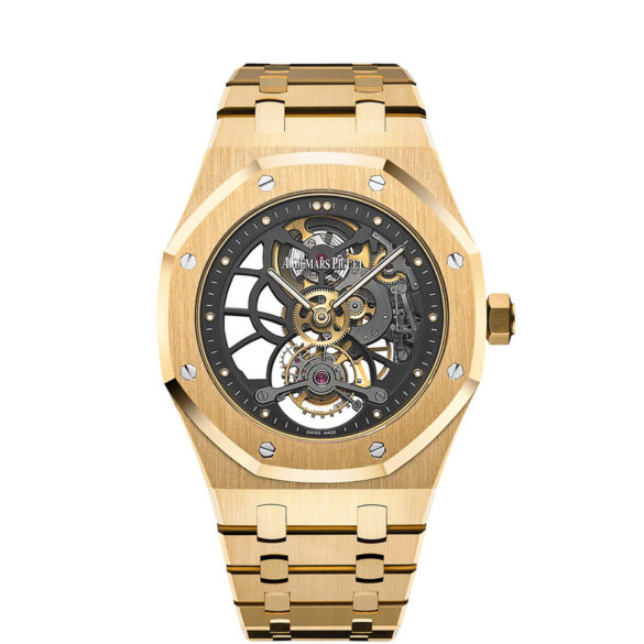 Audemars Piguet Royal Oak Tourbillon Extra-Thin Openworked Yellow Gold