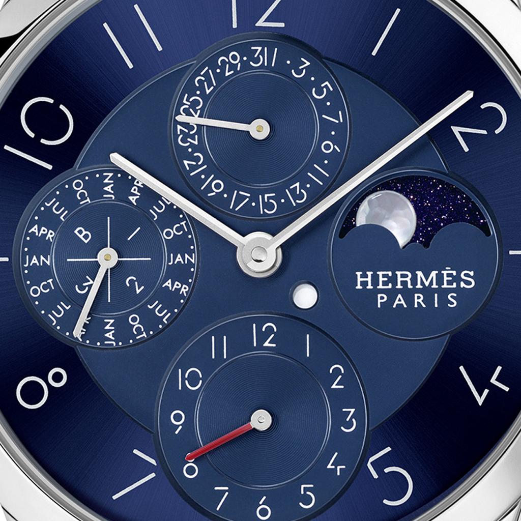 Hermès Slim D'Hermès Quantième Perpétuel Platine