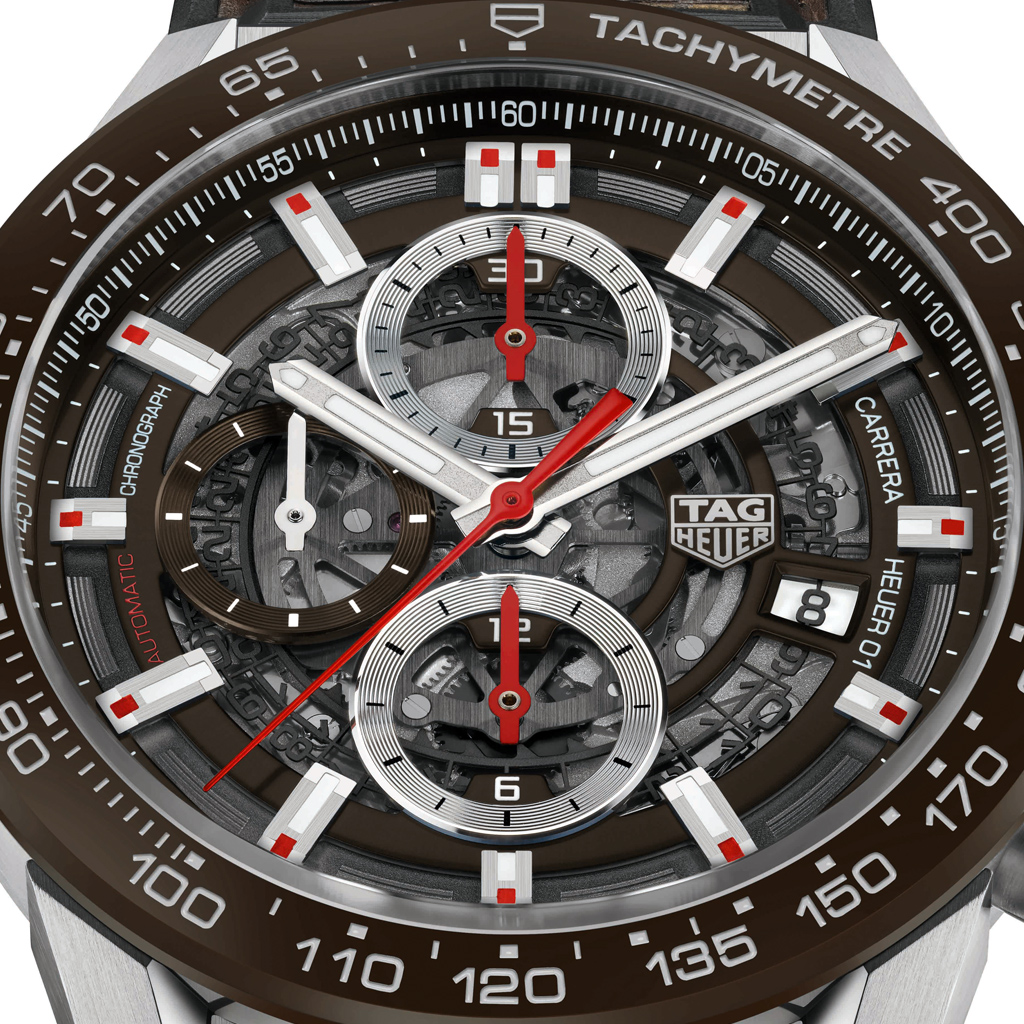 483aa22d4a9 TAG Heuer Carrera Calibre Heuer 01 Automatic Chronograph 100M 43mm ...