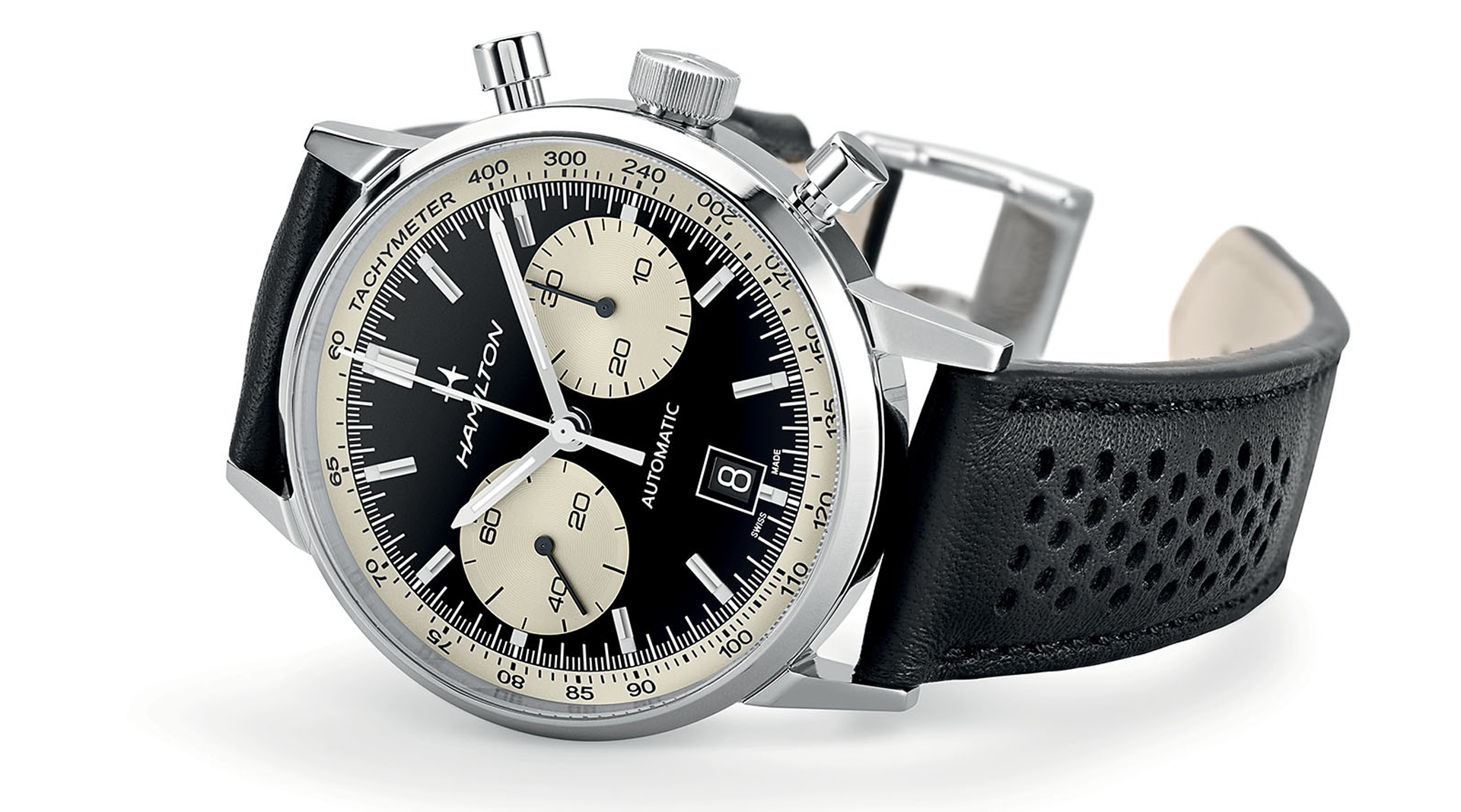 Hamilton Intra-Matic 68 Automatic Chronograph side