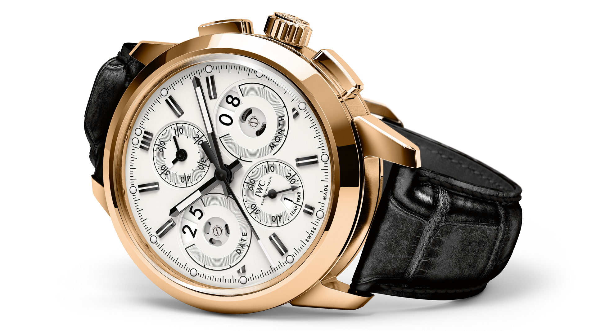 IWC Ingenieur Perpetual Calendar Digital Date-Month side