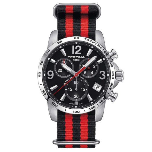 Certina DS Podium Chronograph 1/10 sec black NATO