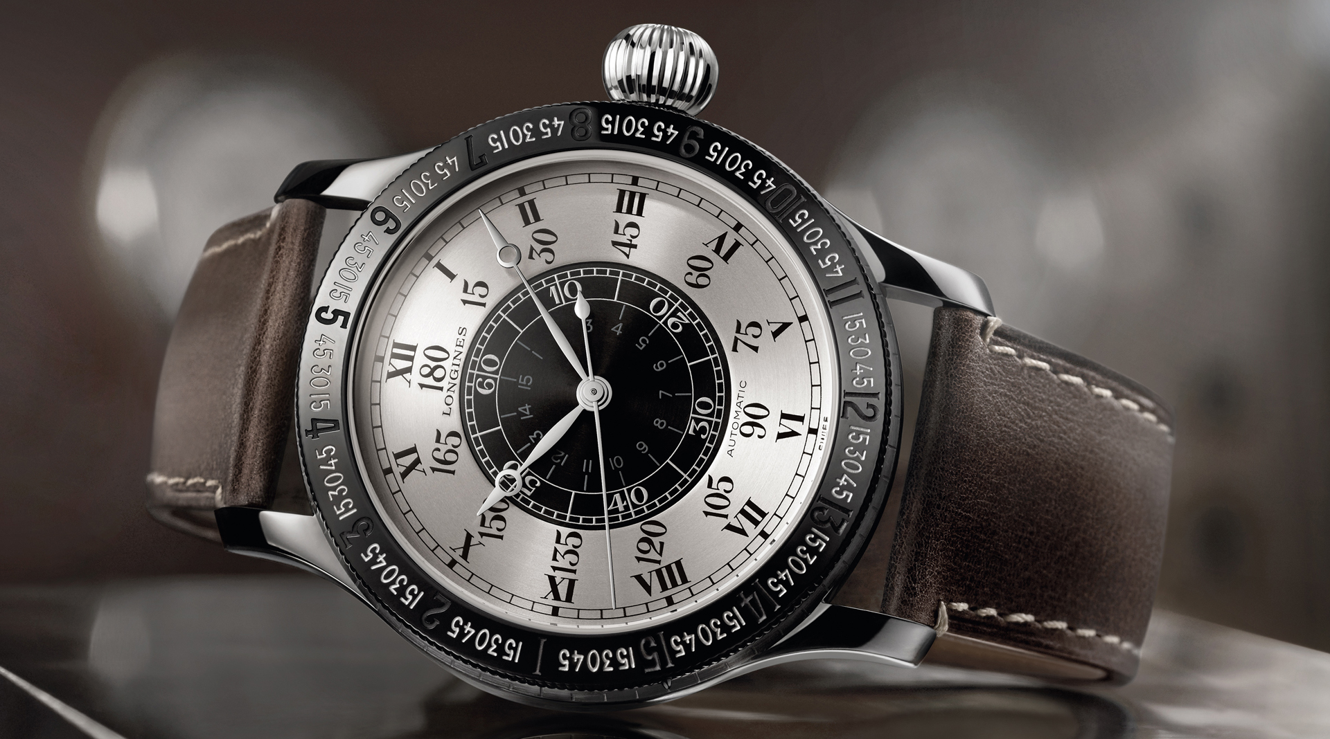 Longines Lindbergh Hour Angle Watch 90th Anniversary side