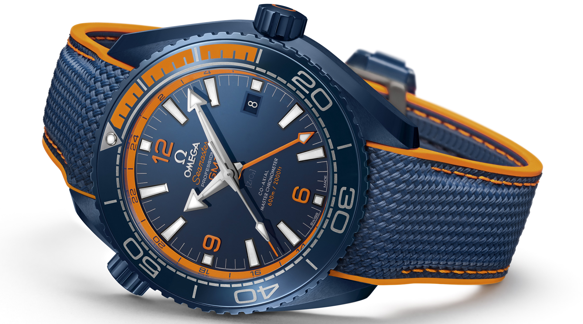 Omega Seamaster Planet Ocean Big Blue side