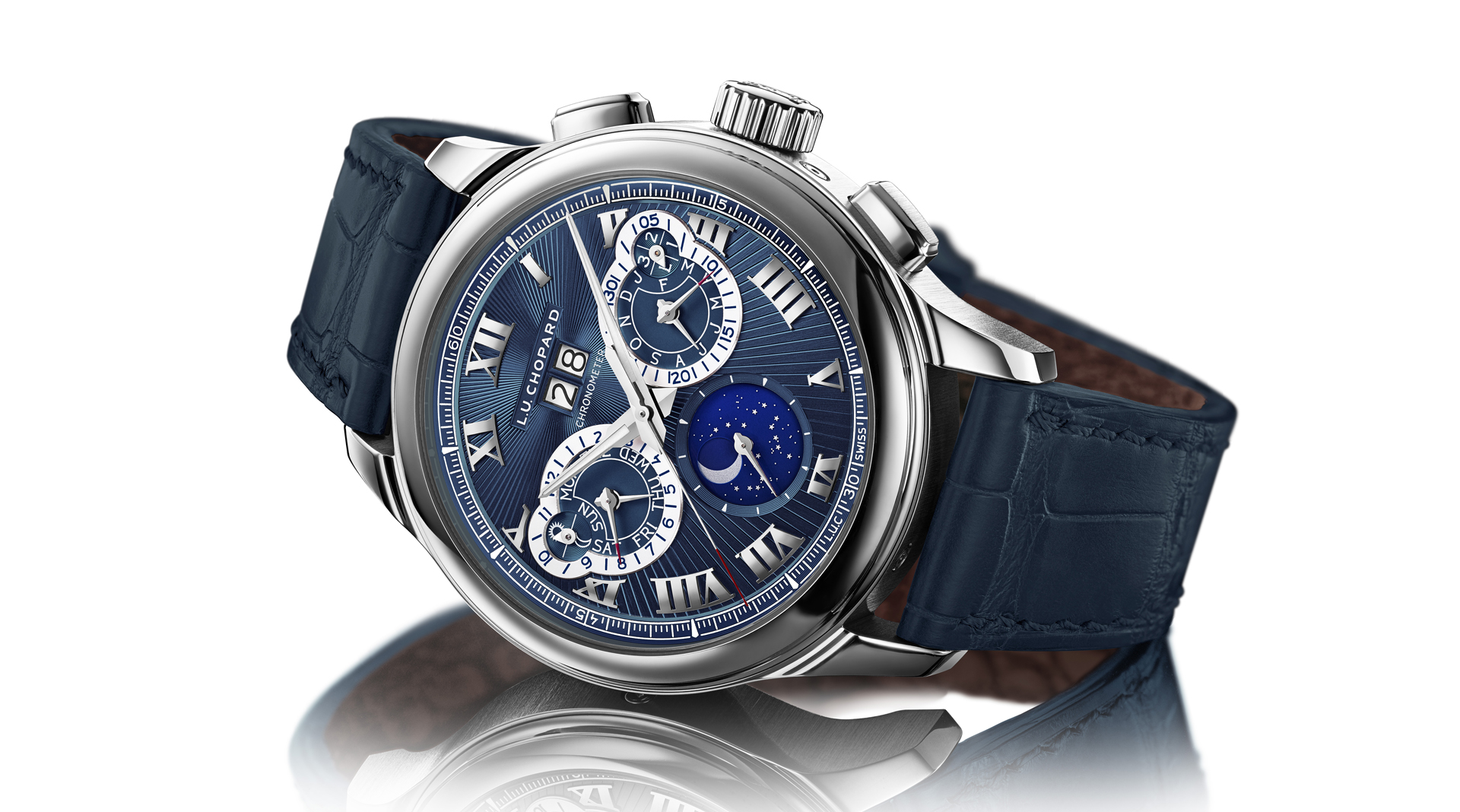 Chopard L.U.C Perpetual Chrono Platinum 161973-9001 side