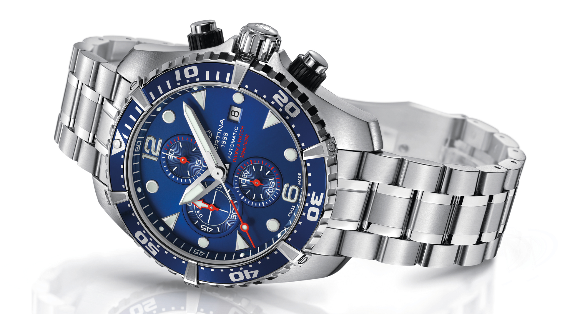 Certina DS Action Diver Chronograph side