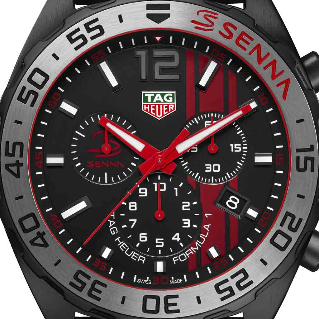 tag heuer formula 1 chronograph ayrton senna limited. Black Bedroom Furniture Sets. Home Design Ideas