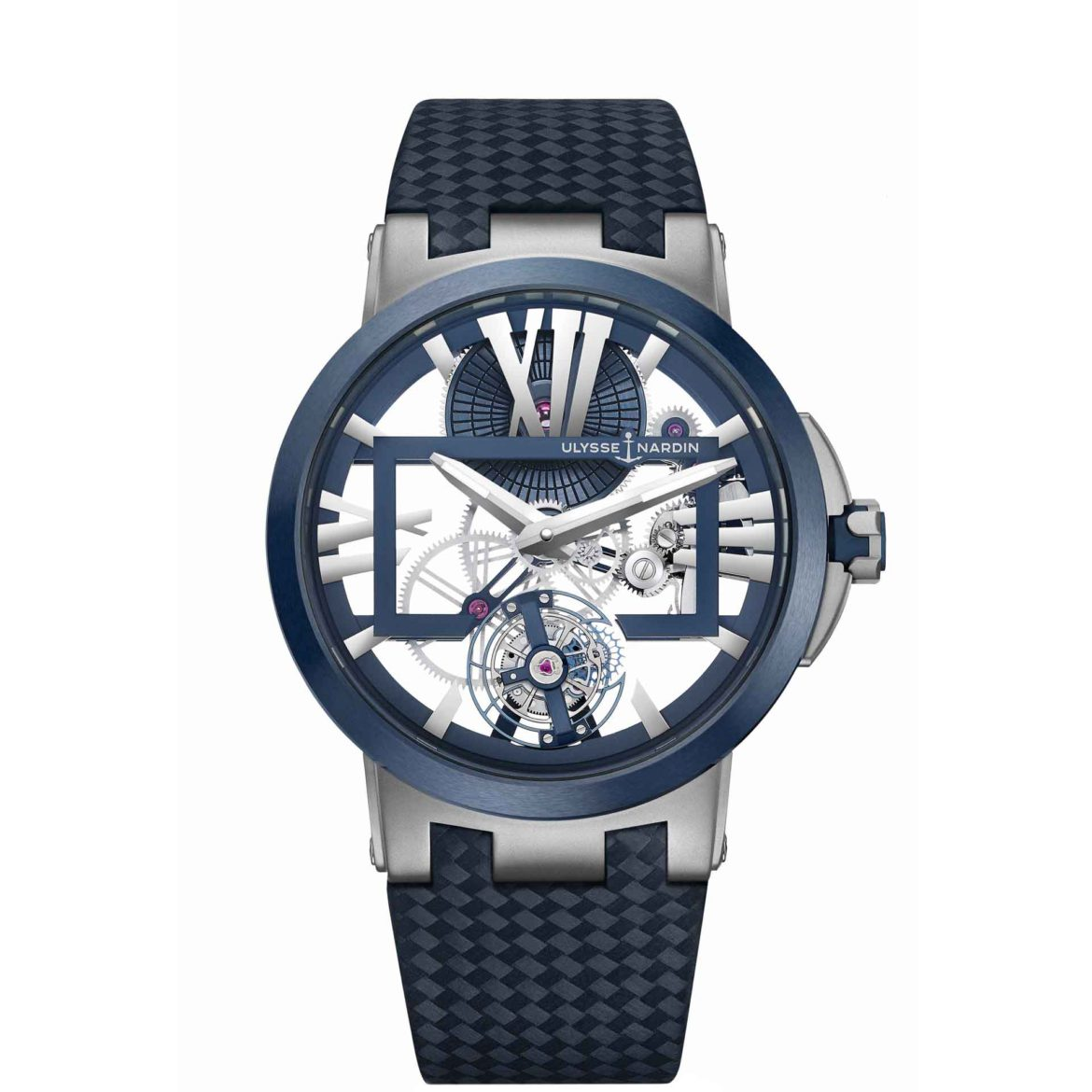 Ulysse Nardin Executive Skeleton Tourbillon Blue 1713-139/43