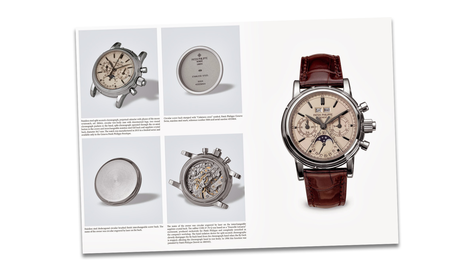 Patek Philippe Steel Watches book by John Goldberger page example