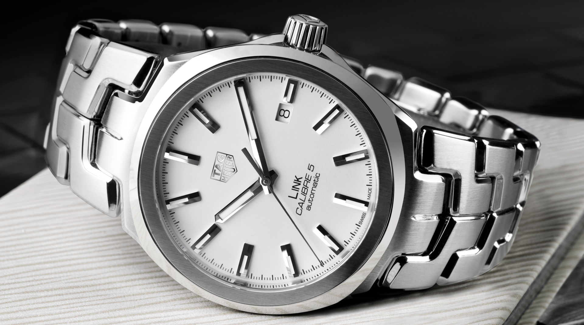 TAG Heuer Link silver dial side