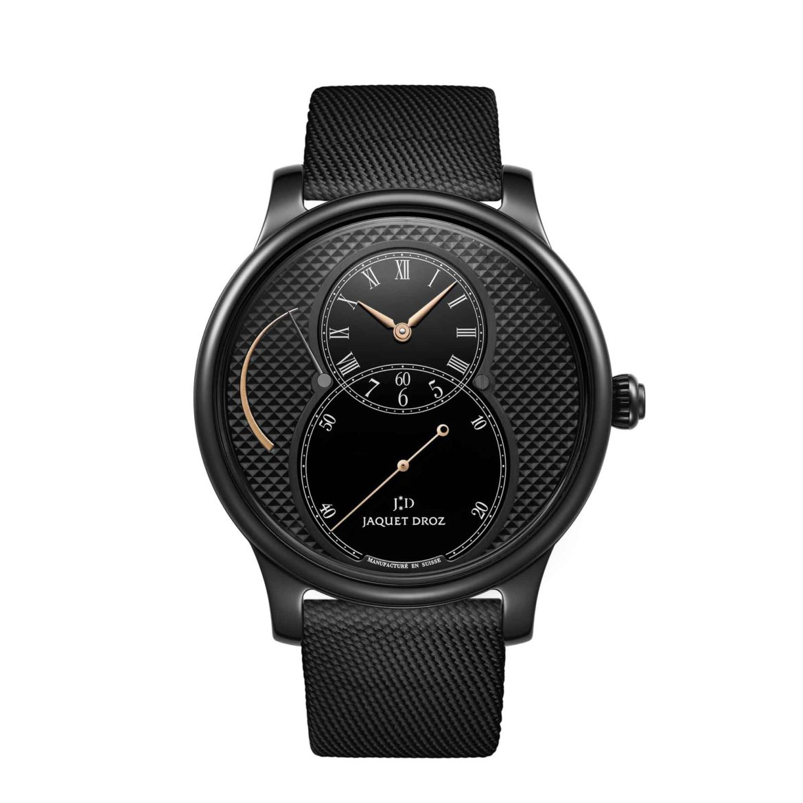 Jaquet Droz Grande Seconde Power Reserve Ceramic Clous de Paris J027035541