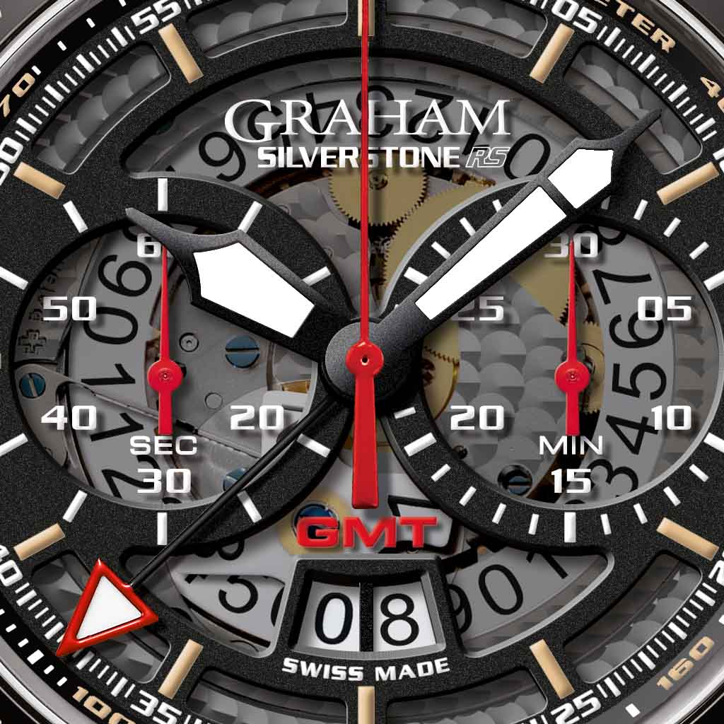 Graham Silverstone RS GMT dial