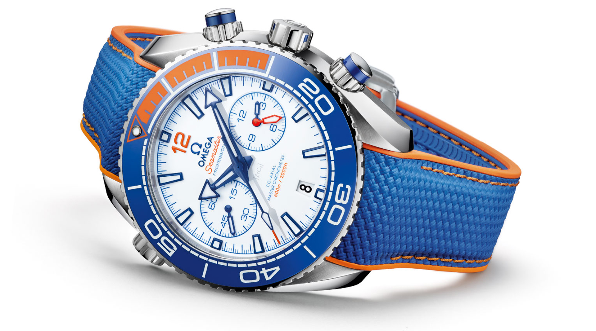 Omega Seamaster Planet Ocean Michael Phelps Limited Edition 215.32.46.51.04.001 side