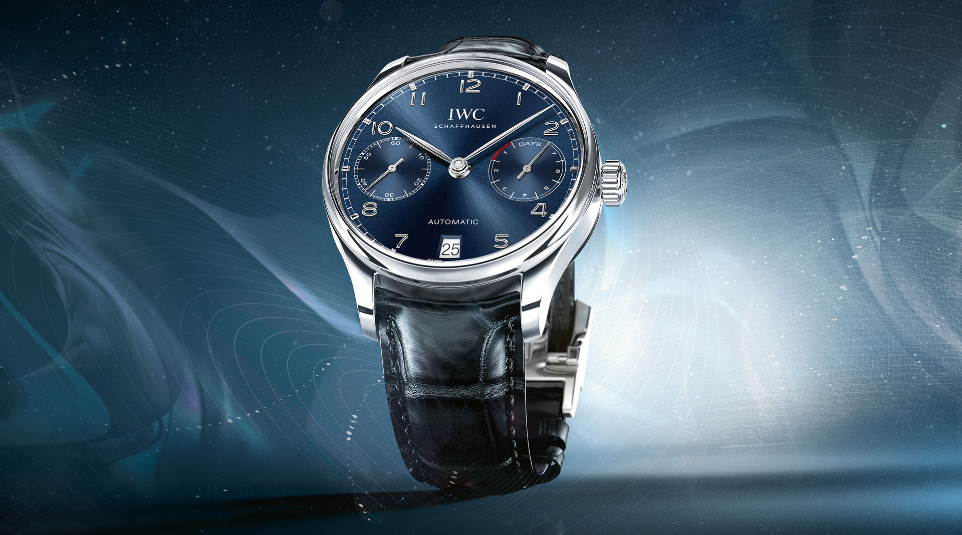 IWC Portugieser Automatic Blue Dial IW500710 wide