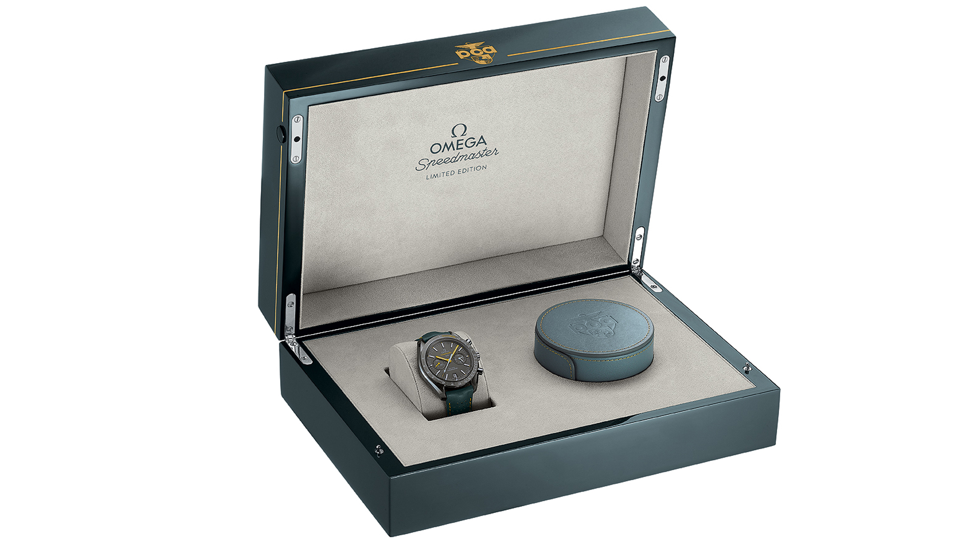 Omega Speedmaster Grey Side of the Moon Porsche Club of America Limited Edition 311.92.44.51.99.001 box